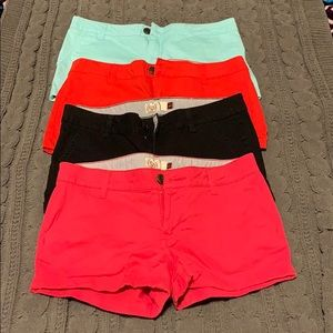 EUC 4 pair of SO shorts, all size 7.